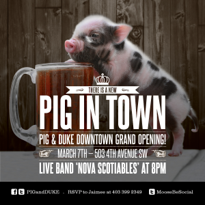 Pig & Duke Downtown Pub Grand Opening